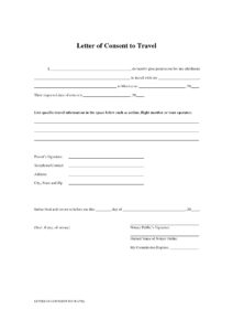 Authorization Letter for Minor To Travel without Parents pdf