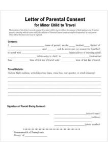 Letter of Authorization For The Child To Travel pdf