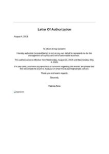 Letter of The Authorization Form pdf