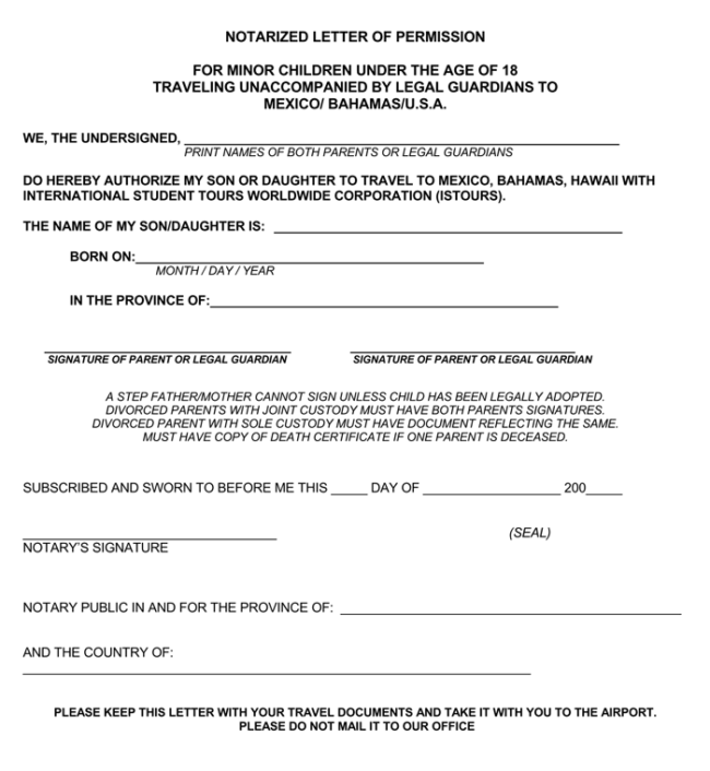 Notarized Letter of Authorization
