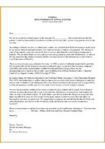 Sample Insurance Appeal Letter For No Authorization pdf