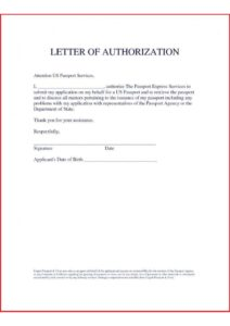 Sample Letter of Authorization To Represent pdf