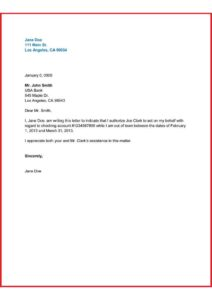 What is a Letter of Authorization pdf