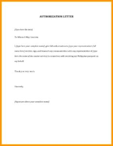 Authorization Letter for SSS