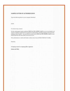 Letter of Authorization for SSS Loan
