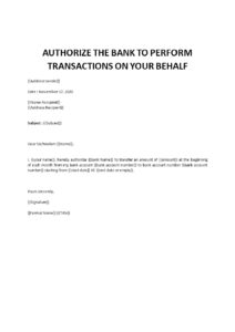 Authorization Letter For Bank Transactions pdf