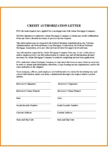 Authorization Letter For Credit Card PDF pdf