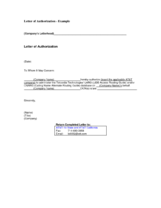 Authorization Letter for Bank Account