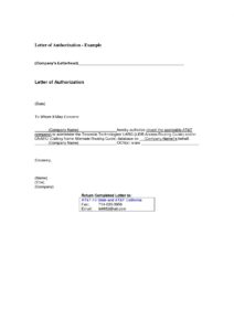 Authorization Letter for Bank Account pdf