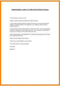 Authorization Letter for Collecting Documents PDF pdf