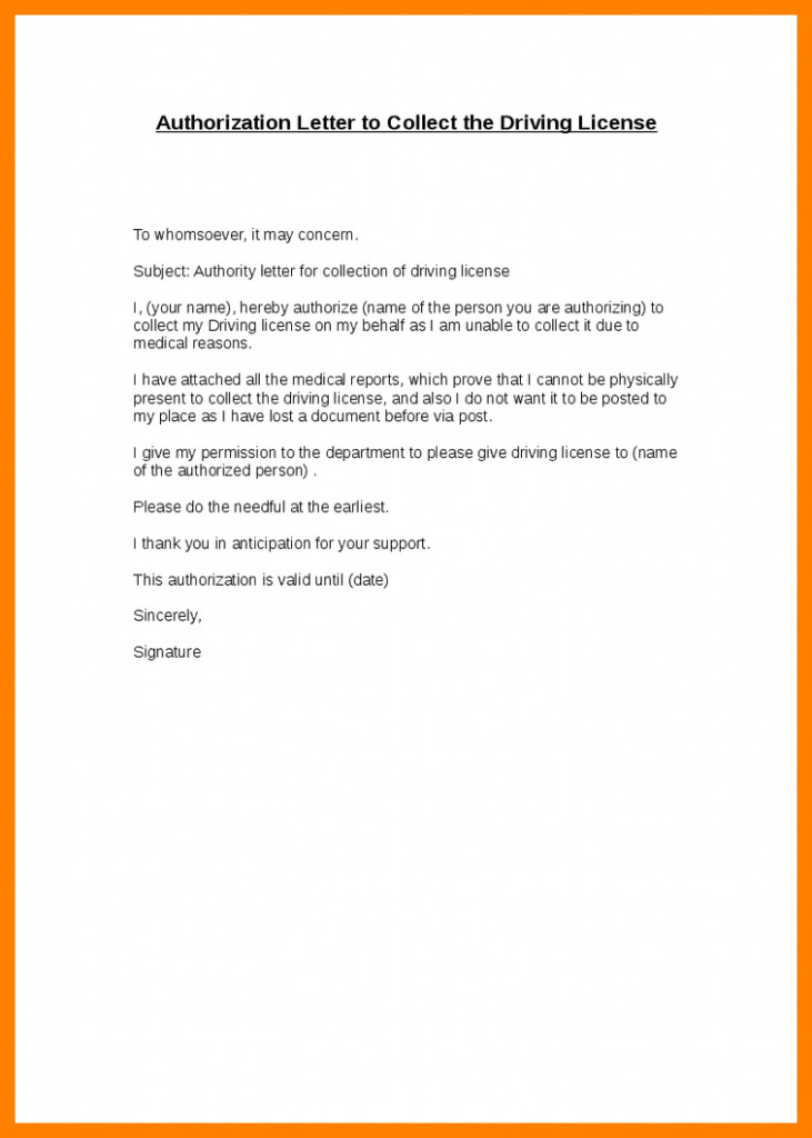 Authorization Letter for Collecting Documents PDF