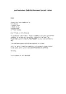 Sample Authorization Letter for Bank pdf