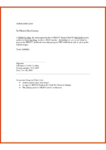Sample Authorization Letter for Collecting Documents pdf