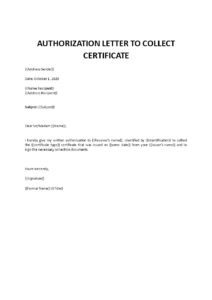 Authorization Letter For Collecting Certificate From College pdf