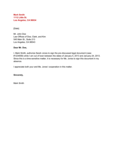 Authorization Letter For Collecting Certificate Template