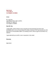 Authorization Letter For Collecting Certificate Template pdf