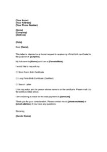 Letter of Authorization for Getting NSO Birth Certificate pdf
