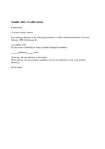 Letter of Authorization for NSO Birth Certificate Sample pdf